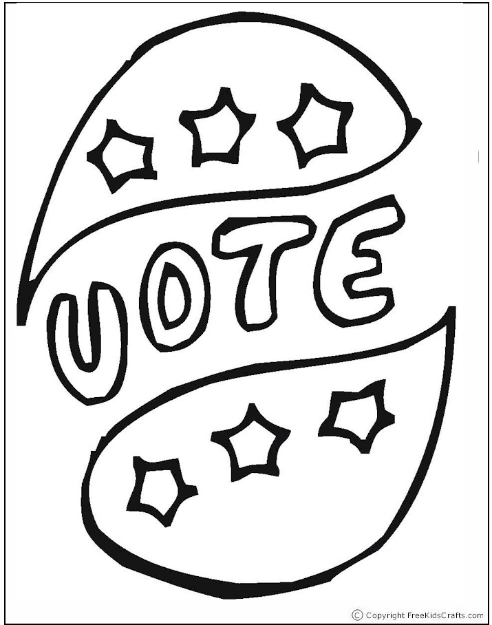 coloring pages vote - photo#18