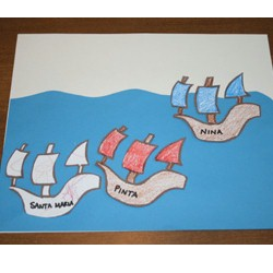 Columbus Day Ships - Kids Crafts