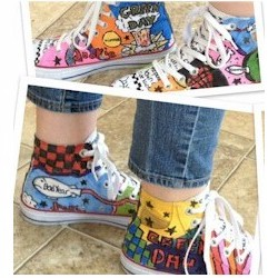 Painted High Tops - Kids Crafts