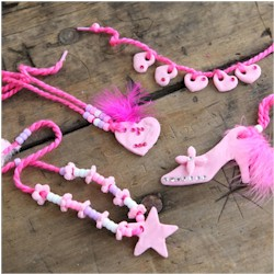 Cornstarch Jewelry - Kids Crafts