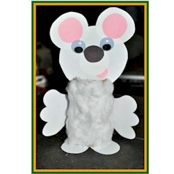Cotton Ball Polar Bear - Kids Crafts