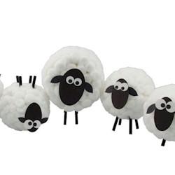 Cottonball Sheep Craft
