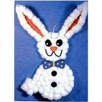 Cotton Ball Bunny - Kids Crafts
