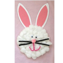 Cotton Ball Easter Bunny - Kids Crafts