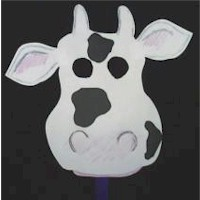 Cool Cow Mask by Free Kids Crafts