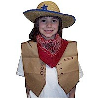 Paper Bag Cowgirl Vest - Kids Crafts