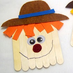 Craftstick Scarecrow - Kids Crafts