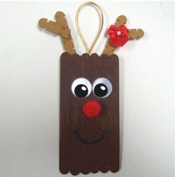 Craftstick Reindeer - Kids Crafts