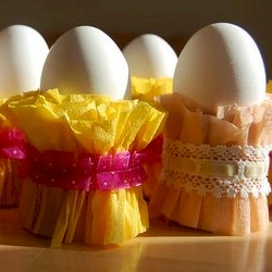 Crepe Easter Egg Cups Craft
