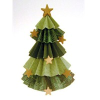 Crimped Paper Tree Craft