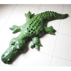 Newspaper Crocodile Craft