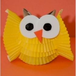 giant cupcake liner template - cupcake liner owl