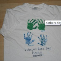 Worlds Best Dad Tee Shirt - Kids Crafts