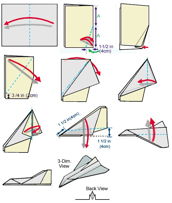 Paper Airplane Instructions Printable