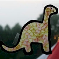 Tissue Paper Dinosaur  - Kids Crafts