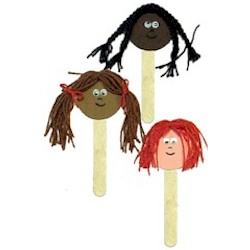Diversity Puppets - Kids Crafts