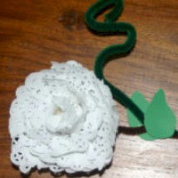 Doily Rose - Kids Crafts