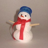 Snow Dough Snowman - Kids Crafts