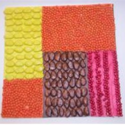 Dried Bean Mosaic Craft