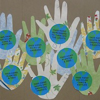 Earth Day Helping Hands - Kids Crafts