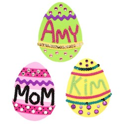 Ornamental Egg Magnets - Kids Crafts