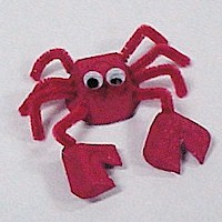 Egg Carton Crab - Kids Crafts