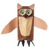 Egg Carton Owl - Kids Crafts