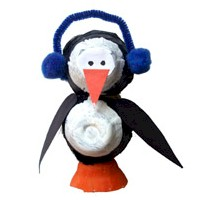 Egg Carton Penguin Craft - Kids Crafts