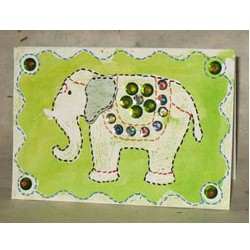Elephant Festival Batik Gift Card - Kids Crafts