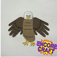 Hand and Footprint Eagle - Kids Crafts
