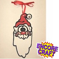 Handprint Santa Ornament - Kids Crafts