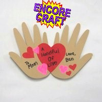 Handprint Valentine&#39s Day Card Craft