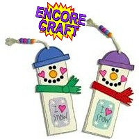 Snowman Bookmark - Kids Crafts