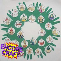 Handprint Countdown Wreath Craft