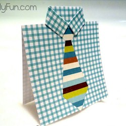 Fathers Day Shirt Card - Kids Crafts