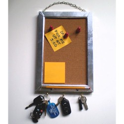 Dad Memo Board & Key Rack - Kids Crafts