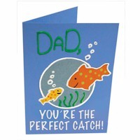 Fathers Day Fish Card - Kids Crafts