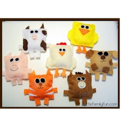 Felt Farm Animals Craft