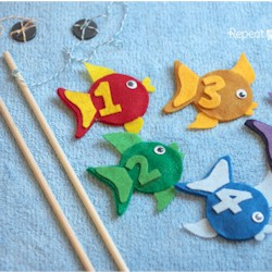 Felt Fishing Game - Kids Crafts