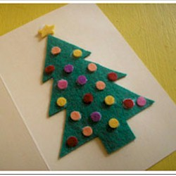 Punch Out Christmas Tree Card Craft