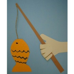 Handprint Fishing Pole - Kids Crafts