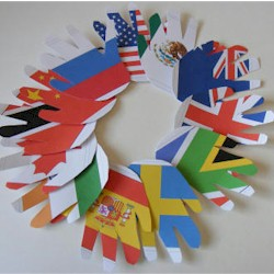 Flag Handprint Wreath Craft