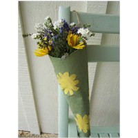 Newspaper Flower Holder Craft