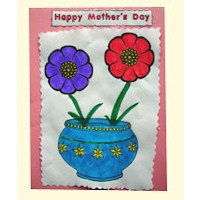 Flowered Mother's Day Card Craft