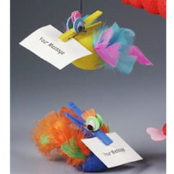 Feathered Note Holder - Kids Crafts