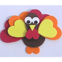 Foam Turkey Craft