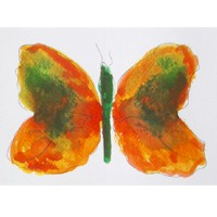 Food Coloring Butterflies - Kids Crafts