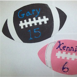 Football Name Placques Craft