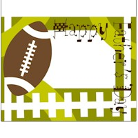 Fathers Day Football Card - Kids Crafts