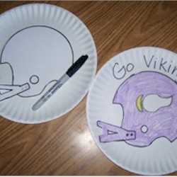 Football Helmet Stencil Craft